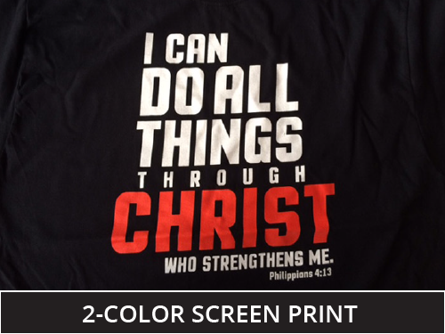 2 color screen printed mens tee