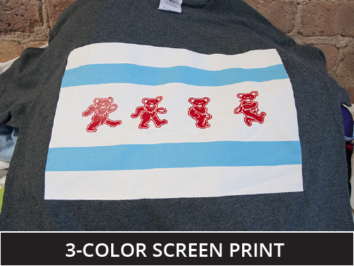 3 color screen print