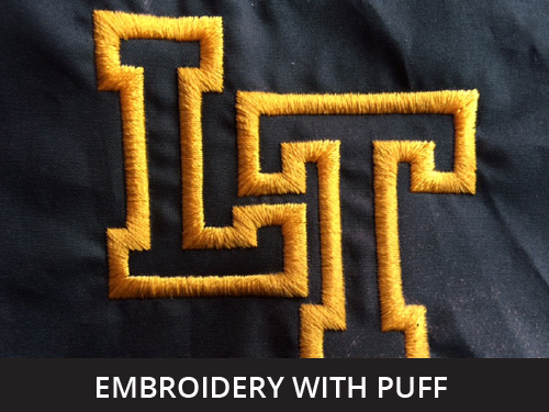 puff / 3d embroidered sew out